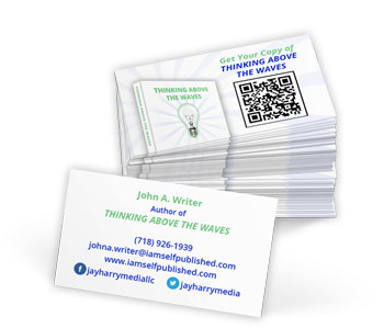 self publish custom business card design